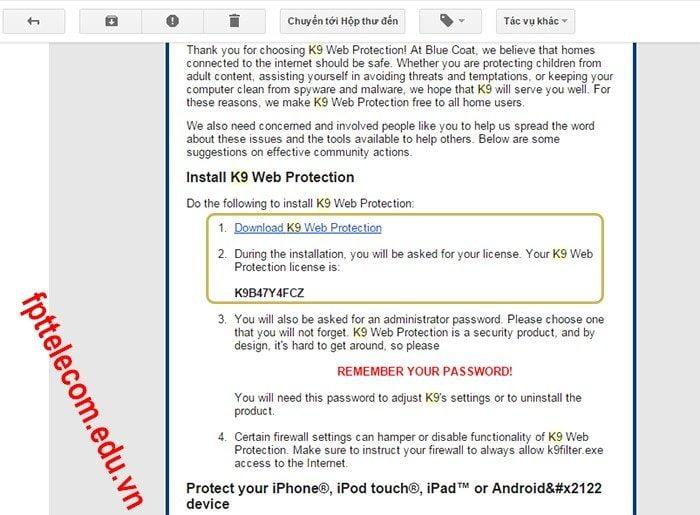Phần mềm chặn web sex