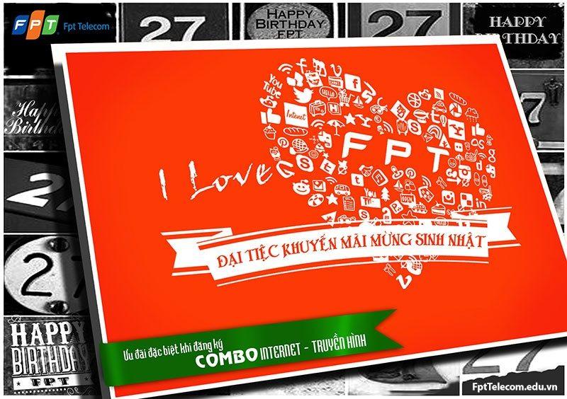 Mừng sinh nhật FPT - Khuyến mãi lắp đặt