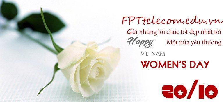 Thiệp chúc mừng khuyến mãi chào mừng ngày phụ nữ 20 -10