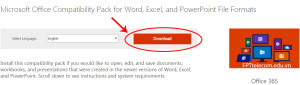 Phần mềm đọc file office 2007,2010,2013 từ office 2003 của Microsoft