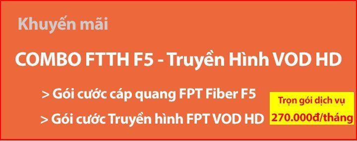 Gói cước Fiber F5 và VOD HD