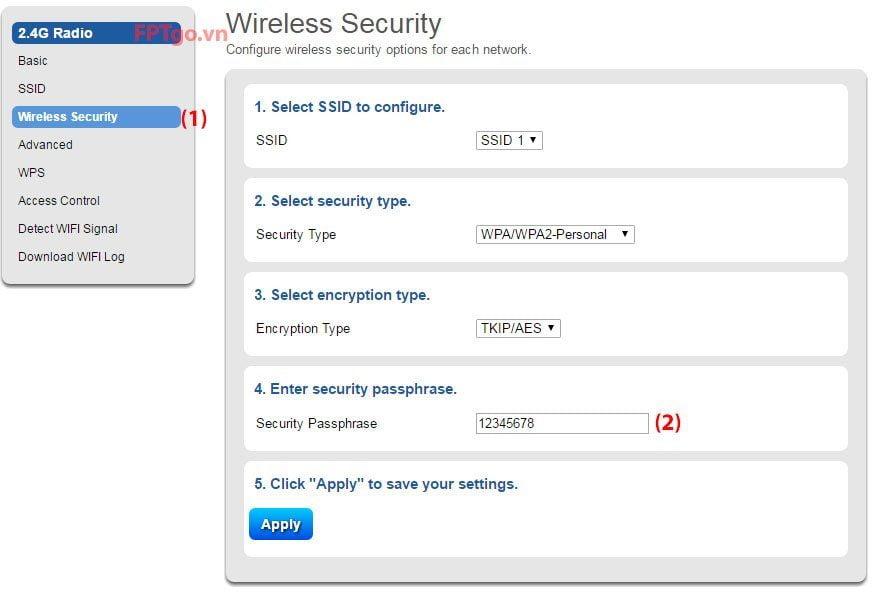 Hướng dẫn đổi mật khẩu wifi 3