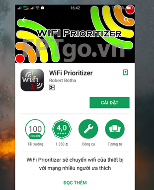 Ứng dụng WiFi Prioritizer