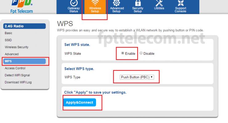Hướng dẫn sử dụng tính năng WPS trên Modem wifi FPT