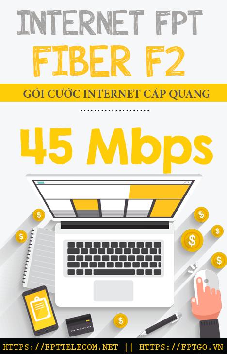 thông tin chi tiết về gói cước internet cáp quang FPT Fiber F2 FPT Telecom