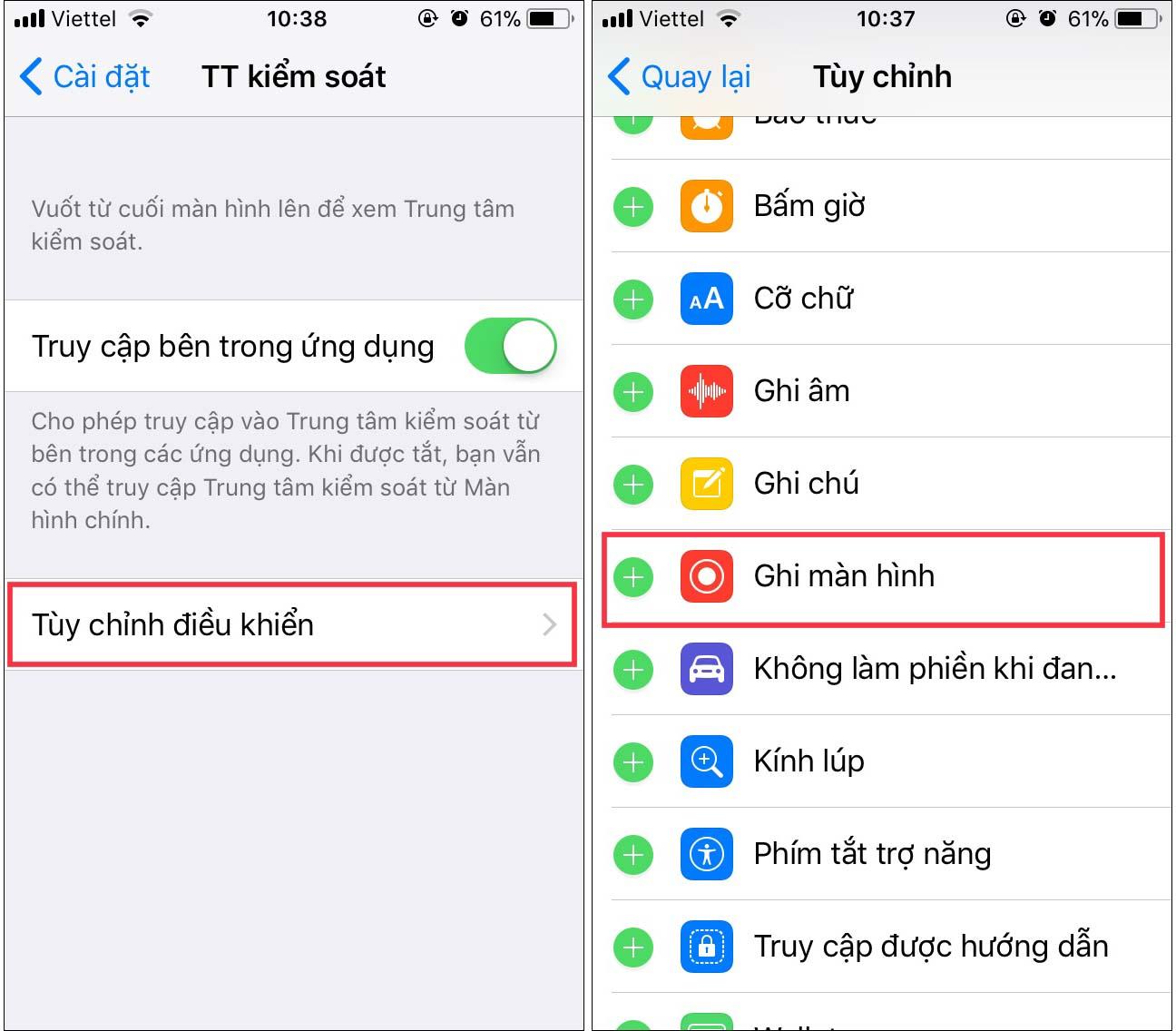 Hướng dẫn quay video màn hình trên Iphone