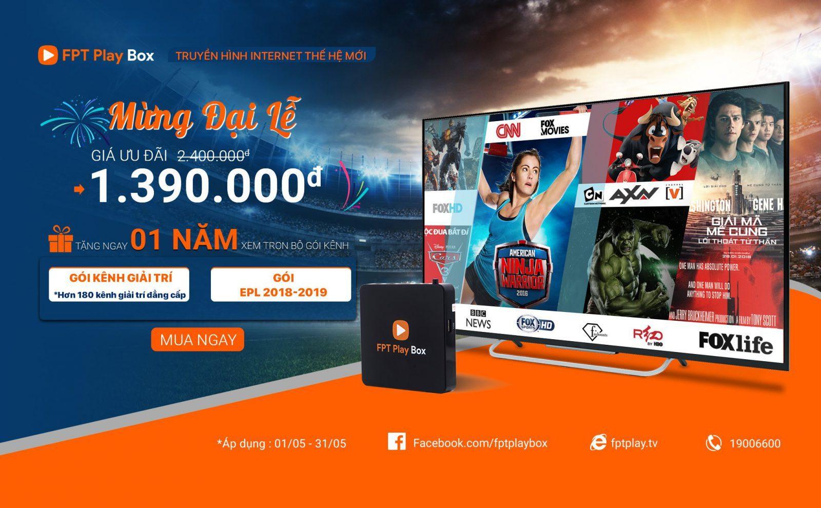Truyền hình Internet giá rẻ FPT Play BOX