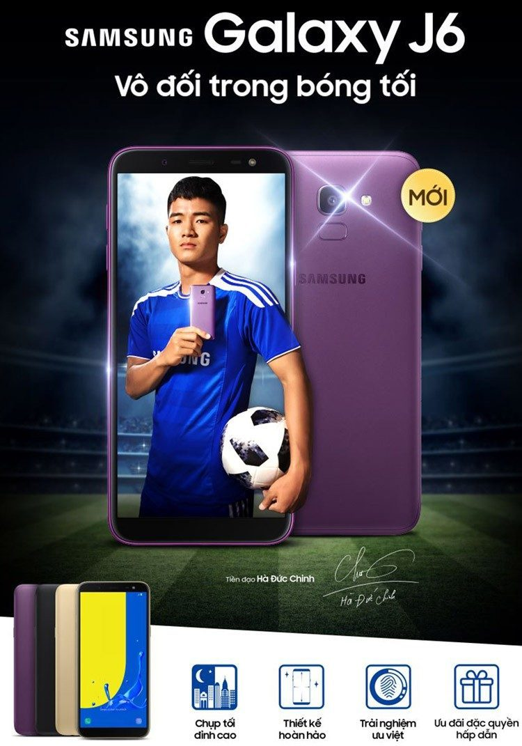 Điện thoại Samsung Galaxy J6 (2018) màn hình 19:9 thời thượng