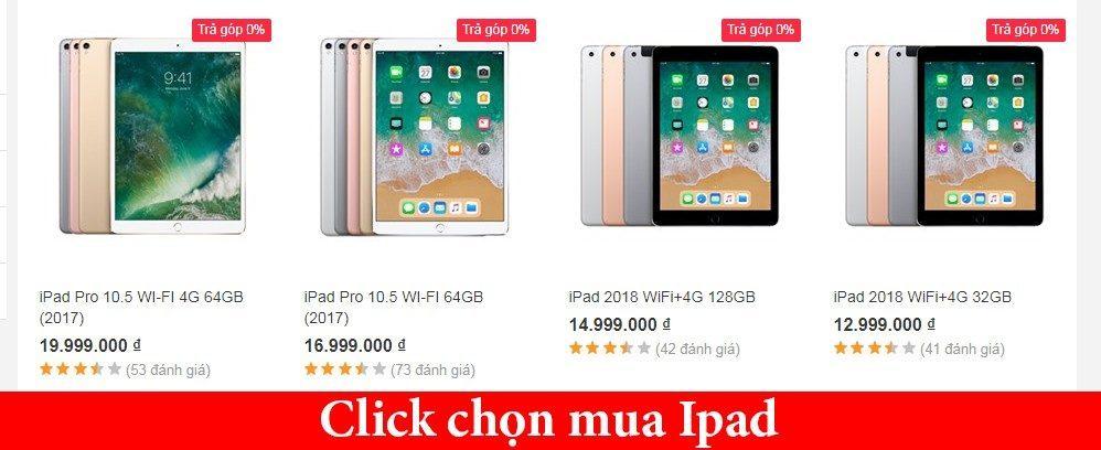 Mua Ipad online giá rẻ hơn