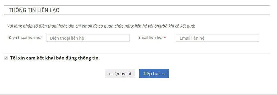 Bản khai đăng ký tuyển sinh tiểu học tại Hà Nội