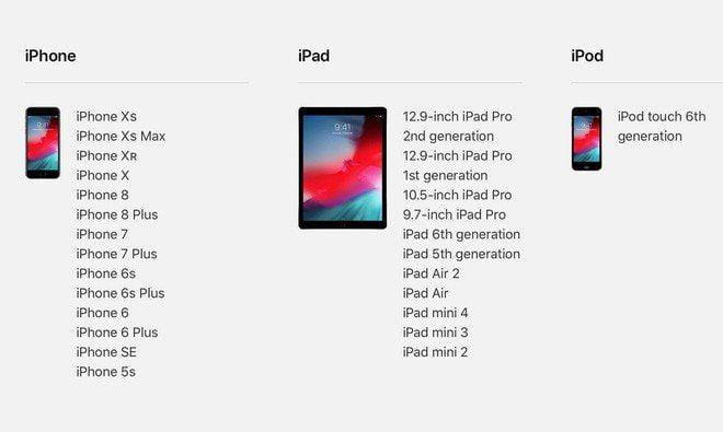 Danh sách điện thoại được hỗ trợ cập nhật lên IOS 12