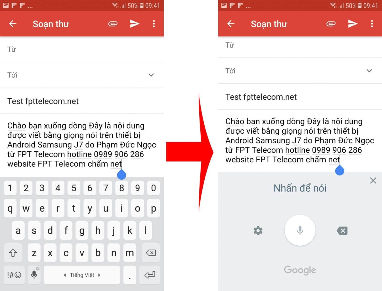 Bật đọc chính tả trên điện thoại Android