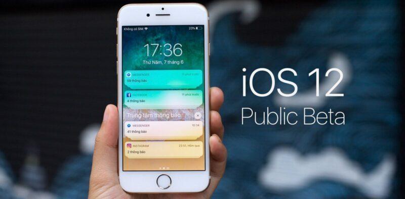 Phiên bản IOS 12 trên Iphone 6s