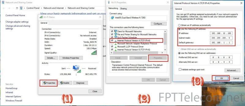 Đặt địa chỉ IP tĩnh cho máy tính của bạn