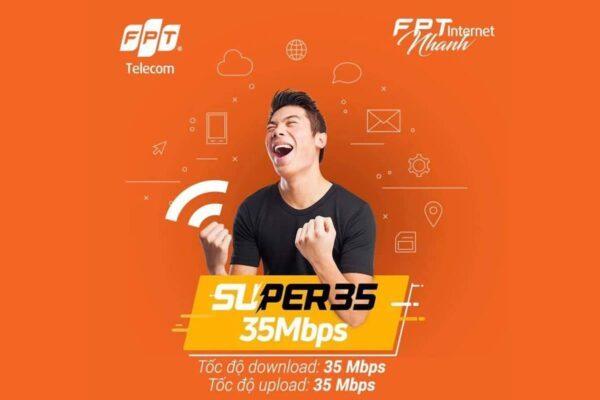 Gói cước Internet FPT Super 35 - tốc độ 35Mbps