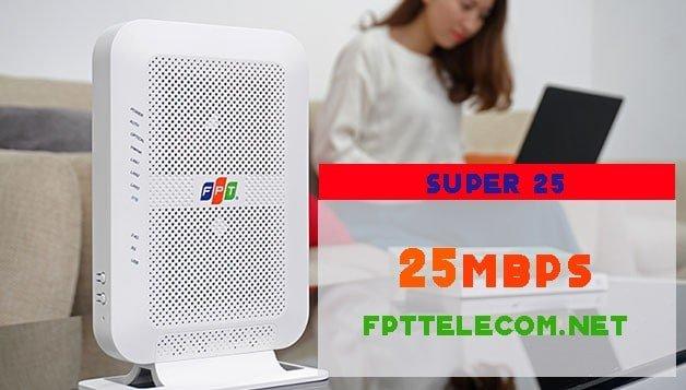 Gói cước Internet cáp quang FPT tốc độ 25Mbps