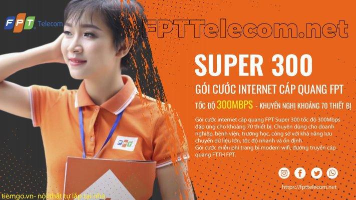 Gói cước Internet cáp quang FPT Super 300