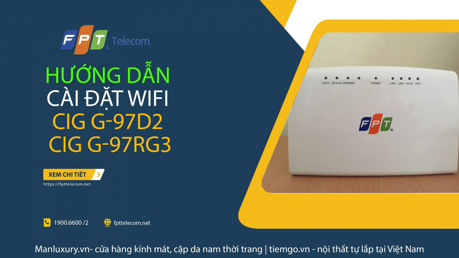 Hướng dẫn cài đặtWifi modem CIG G-97D2/ G-97RG3