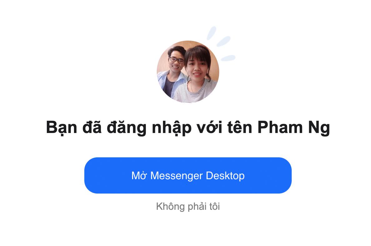 Cấp quyền cho Messenger đăng nhập là được