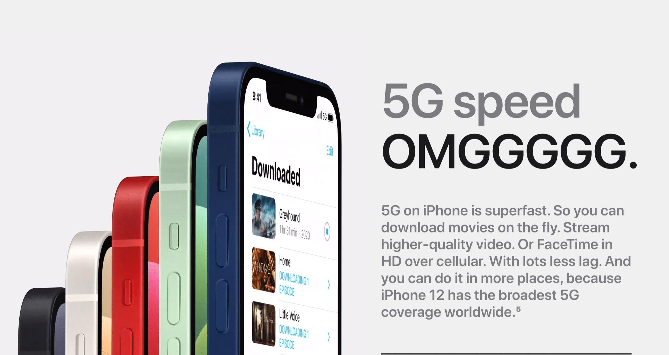 Mạng dữ liệu di động 5G trên iPhone 12