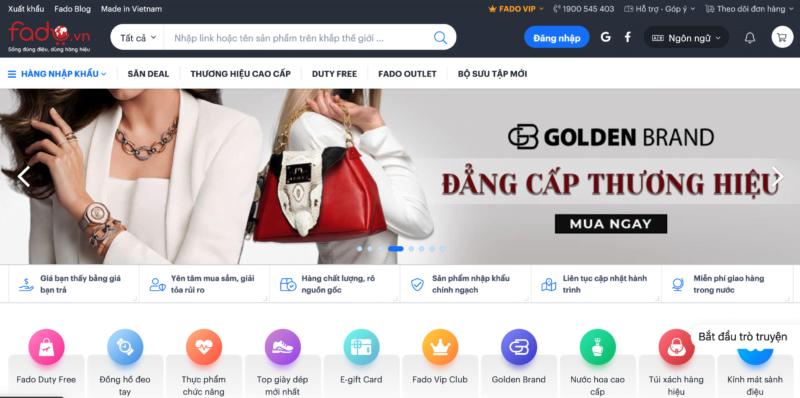 Website trung gian mua hàng Fado